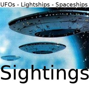 UFOs Lightships Spaceships Sighting LOGO